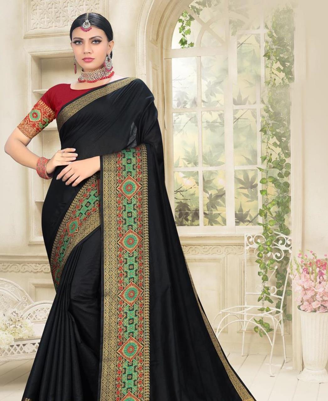 Cotton Saree in Black