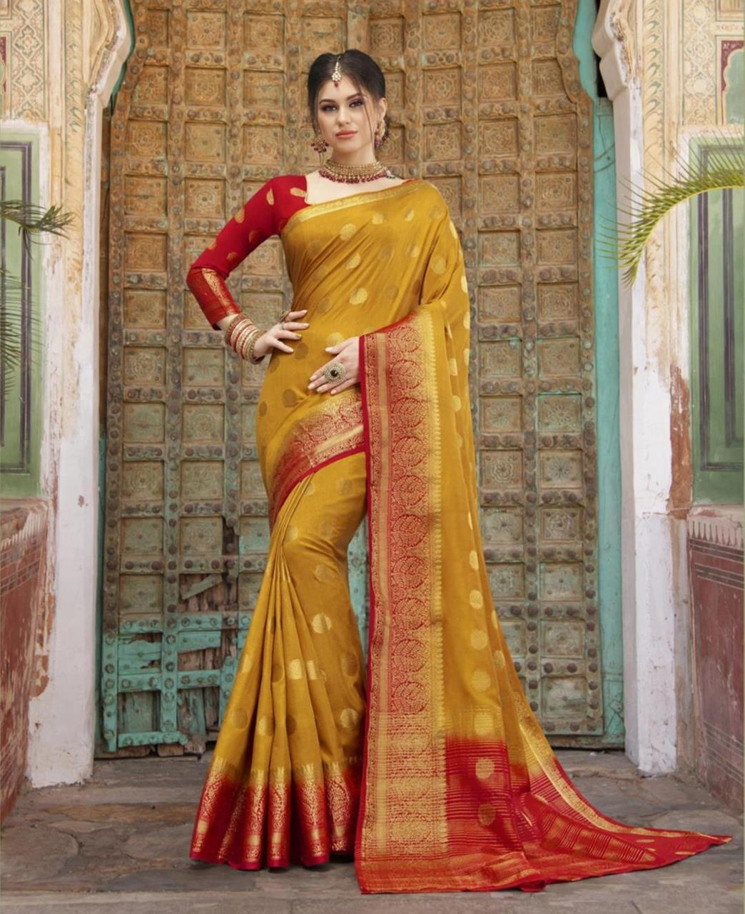Silk Saree in Musturd Yellow
