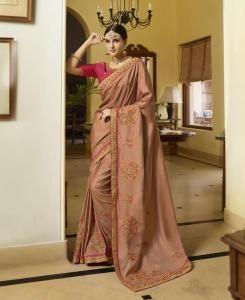 Sequins Silk Saree in Pink