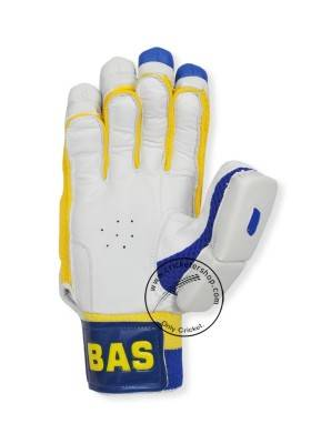 69a81d36e BAS Vampire Gold Blue Yellow Cricket Batting Gloves Mens Size Right and Left  Handed