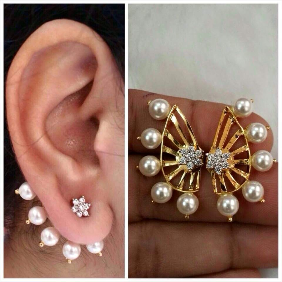 designer ear plated copy fashion jewellery wholesale earrings gold