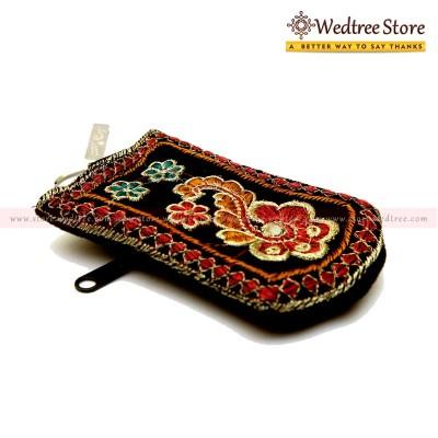 Mobile Holder - Mobile Holder made of velvet with hand embroiding return gift