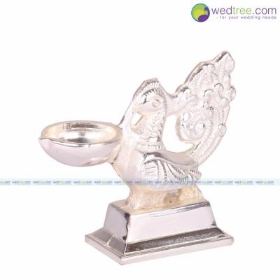 Annapakshi Diya - Annapakshi made of white metal return gift