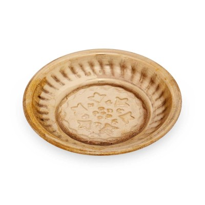 Plate  - Plate with flower embose small Made up of brass return gift