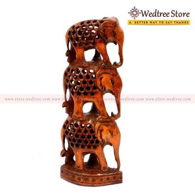 Elephant Jali - Elephants carved with a jaali pattern.