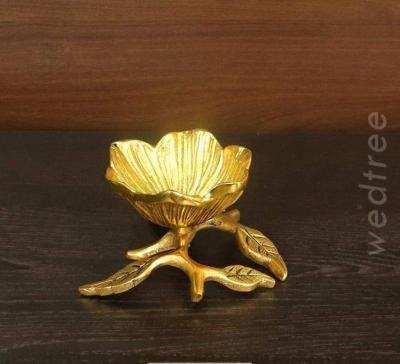 White metal gold finish Flower bowl return gift