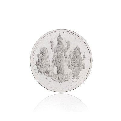 Lakshmi coin - Lakshmi ganesha coin made of german silver with silver coated  return gift