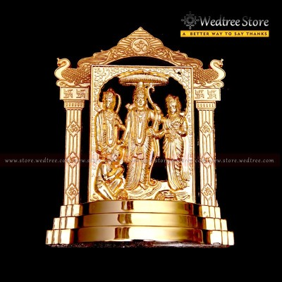 Frame - Ram Darbar made of zinc alloy with gold electro plating return gift