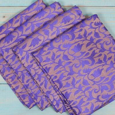 Brocade Blouse Bit - Brocade Blouse Bit Navy Blue Floral Design - Pack of 10