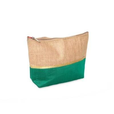 Jute and Raw Silk Travel Kit return gift