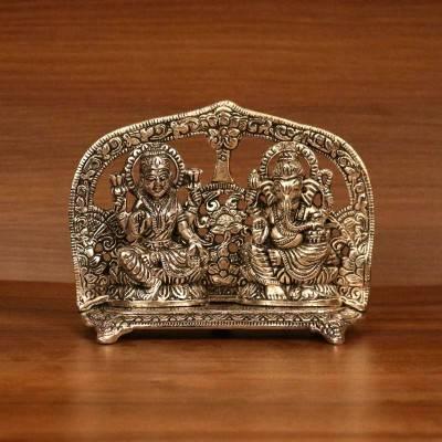 Oxidised Lakshmi, Ganesha with frame return gift