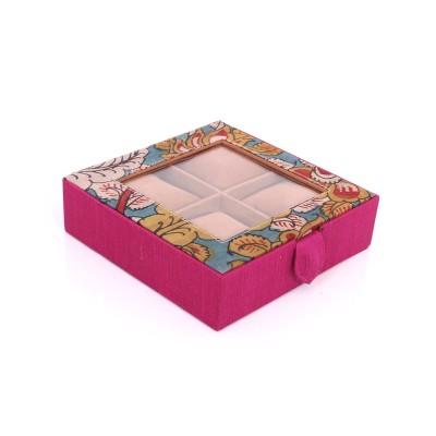 Watch Box - Watch Box made of silk & kalamkari fabric return gift