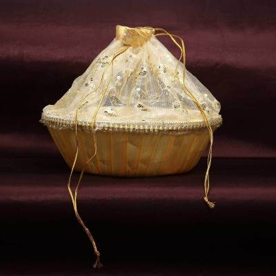 Tissue bag large with round base - Indian return gift