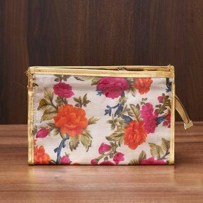 Vanity Pouch with Floral Design - Indian return gift