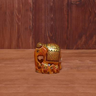 Wooden Hand painted Elephant Family return gift