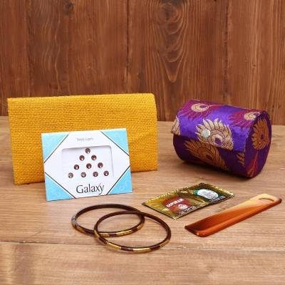 Gift Combo Jute Purse with Murthi Saraswathi Big return gift