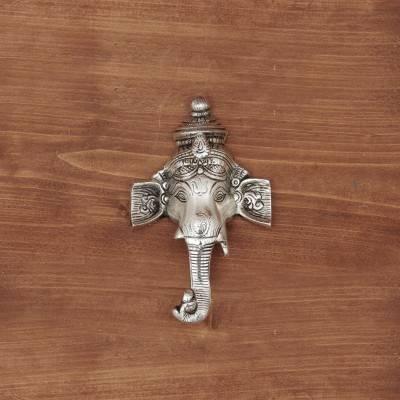White Metal Ganesha wall Hanging return gift