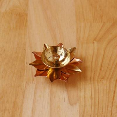 Copper & Brass Flower Diya 1.5 inch return gift