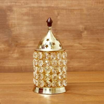 Brass Crystal Diya 2.4 inch return gift
