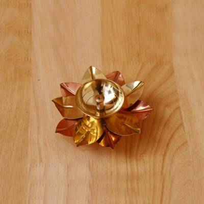 Copper & Brass Flower Diya 1.7 inch return gift