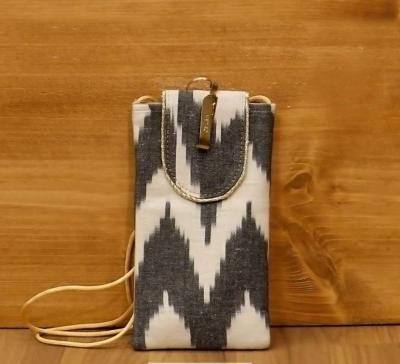 Ikkat Mobile Pouch return gift