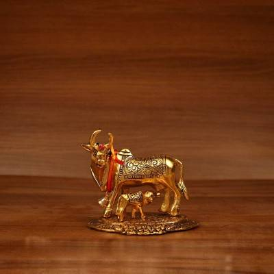 Gold cow and calf return gift