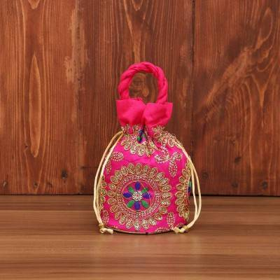 Potli bag - Thread embroidery with chamki work return gift