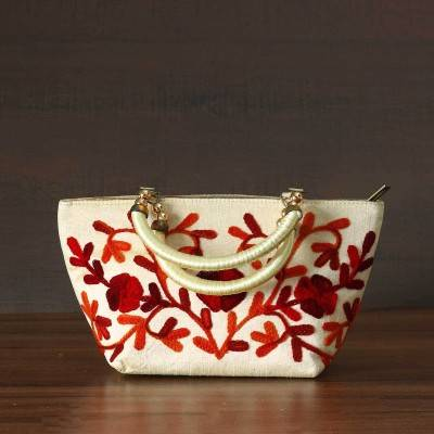 Hand Bag with thread embroidery design Indian return gift