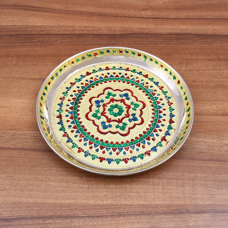Minakari Plate 8 inch return gift