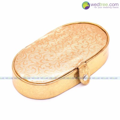 Jewel Box - Oval Shaped Jewellery Box to hold Bangles Ear rings and Jewelery Sets return gift