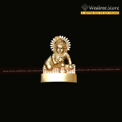 Frame - Murthi Laddu Gopa made of zinc alloy with gold electro plating return gift