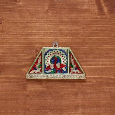 Golden Minakari Tricon Key hanger Small return gift