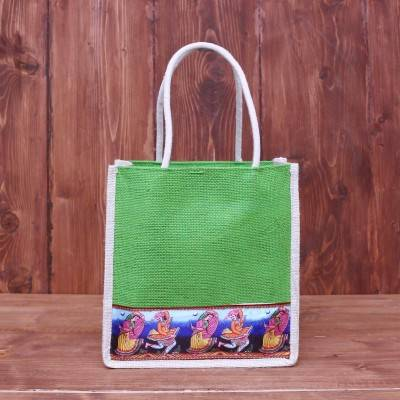 Jute Bag with digital printed lace return gift