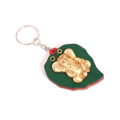 Wooden ganesh key chain return gift