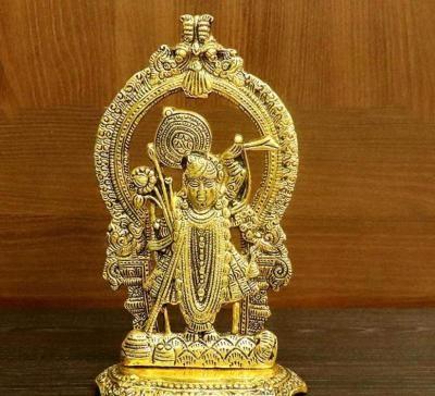 White metal gold finish Shrinath return gift