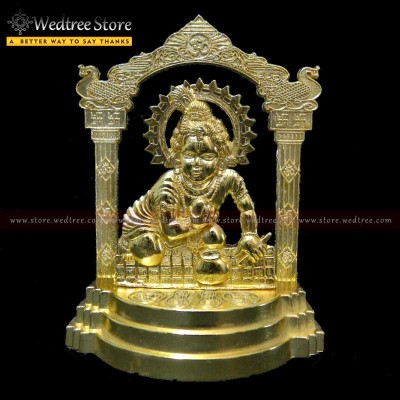 Frame - Laddu Gopal made of zinc alloy with gold electro plating return gift