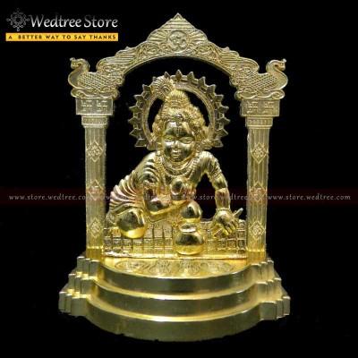 Frame - Laddu Gopal made of zinc alloy with gold electro plating return gift