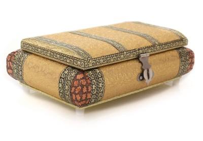 Jewel Box  - Golden German oxidised jewel box 5X8