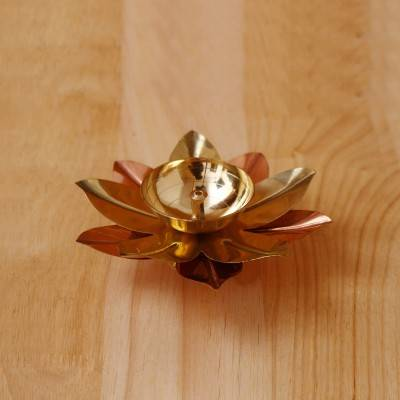 Copper & Brass Flower Diya 2 inch return gift