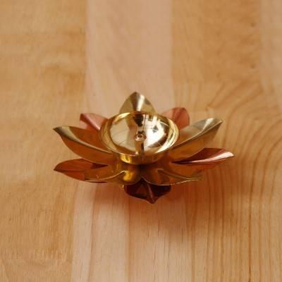Copper & Brass Flower Diya 2 inch return gift