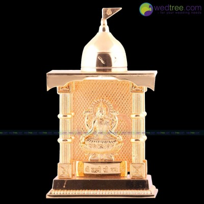 Mandap - Lakshmi made of zinc alloy with gold electro plating in mandap return gift