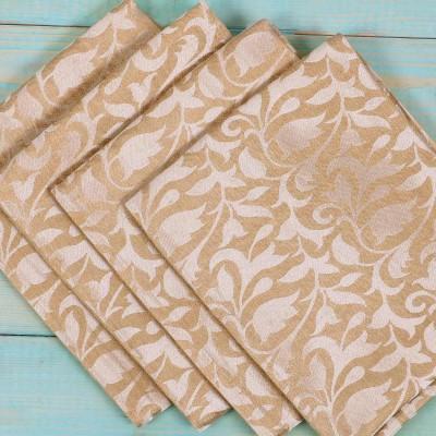 Brocade Blouse Bit - Brocade Blouse Bit Golden Floral Design - Pack of 10