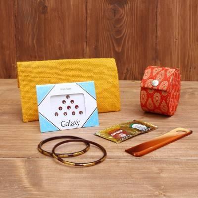Gift Combo Jute Purse with designer Potli Bag return gift