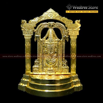 Frame - Tirupati Balaji made of zinc alloy with gold electro plating return gift