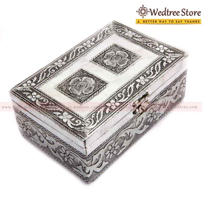 Oxidised Box - This Oxidised Silver Box will make a fantastic addition to your home and it is ideal for your storing all your favourites return gift