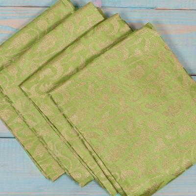 Brocade Blouse Bit - Brocade Blouse Bit Light Green Floral Design - Pack of 10