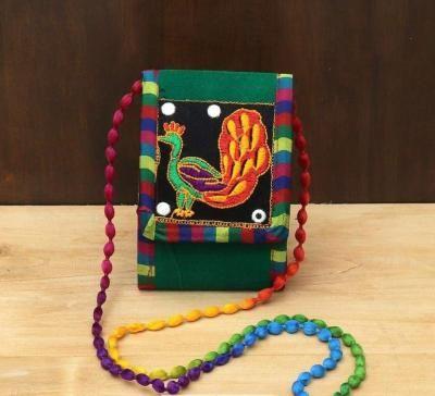 Velvet sling bag with embroidery work return gift