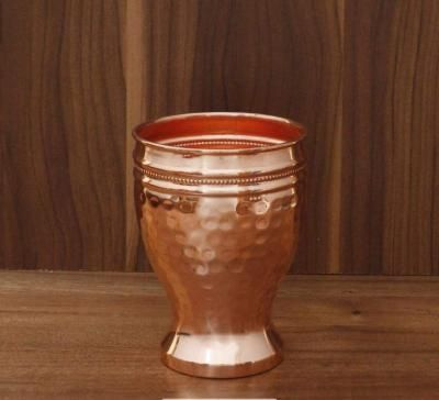 Copper glass with hammered design return gift