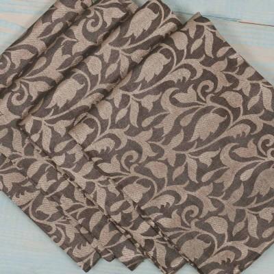 Brocade Blouse Bit - Brocade Blouse Bit Black Floral Design - Pack of 10