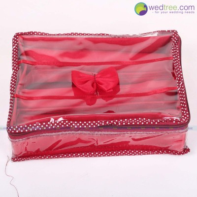 Bangle Pouch - Bangle Holder made of satin fabric and card board padding in sides return gift
